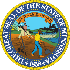 Minnesota State Seal, shown on State Flag