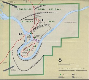 Map of the Battle of Horseshoe Bend