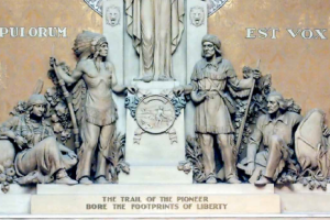 A portion of the sculpture in the Minnesota House of Representatives