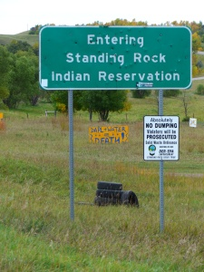 The Sacred Stones Camp where we stayed was just outside the reservation.