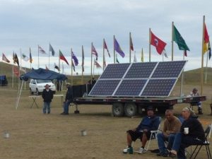 ... And solar panels help power the camp, too.