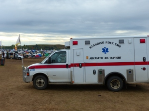 ... And an ambulance on site in case of emergencies.