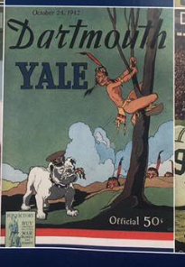 Image of historic Dartmouth-Yale Football program reprinted for this year's game.
