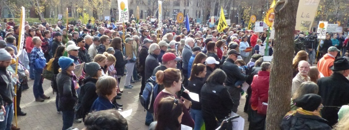 The rally started in Mears Park in Downtown St. Paul.