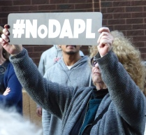 From Mears Park rally against the Dakota Access Pipeline.