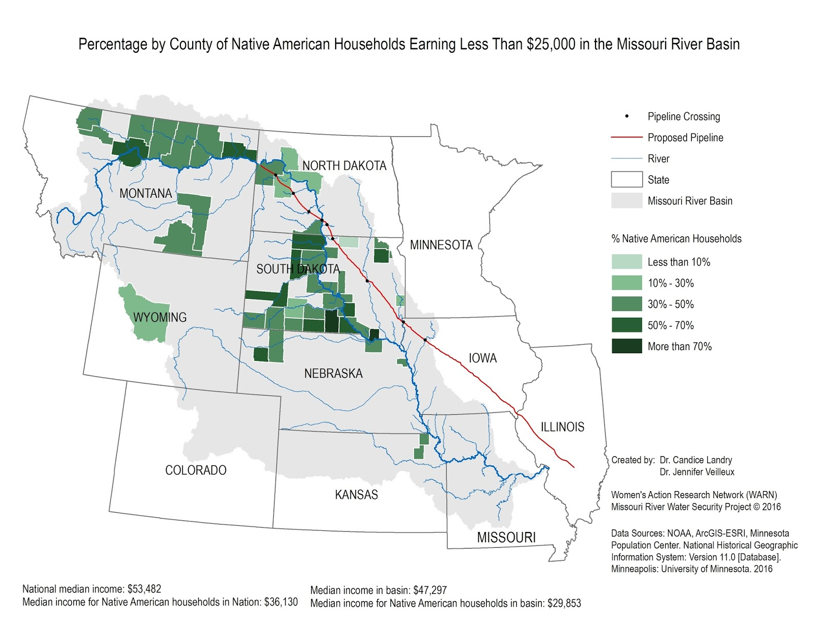 New Map Shows DAPL Missouri River Crossing Puts Disproportionate - Map of northern missouri