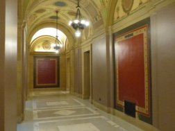 The Capitol walls are bare, for now.
