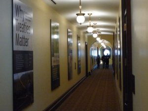 The corridor on the southeast corner of the Capitol's third floor can hold new art, too.