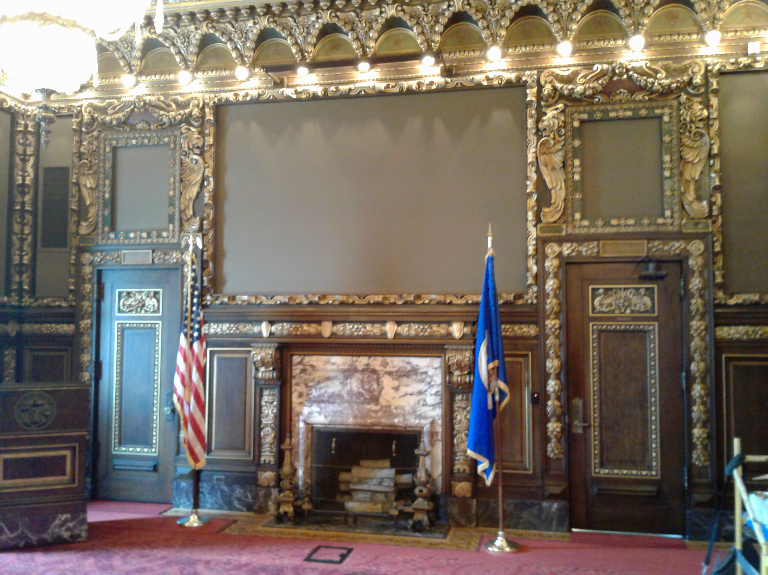 This Is Where The Painting Of The Treaty Of Traverse Des Sioux Used To Hang  In The Minnesota Governoru0027s Reception Room.
